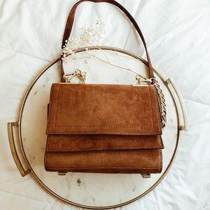 Zara suede bag in brown caramel